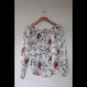 Abercrombie & Fitch Off the Shoulder Floral Top